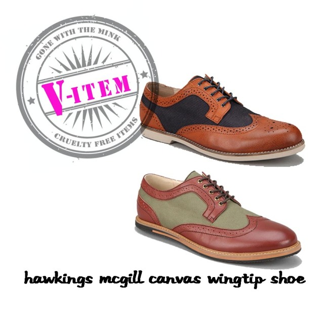 Hawkings McGill Canvas Wingtip Shoe