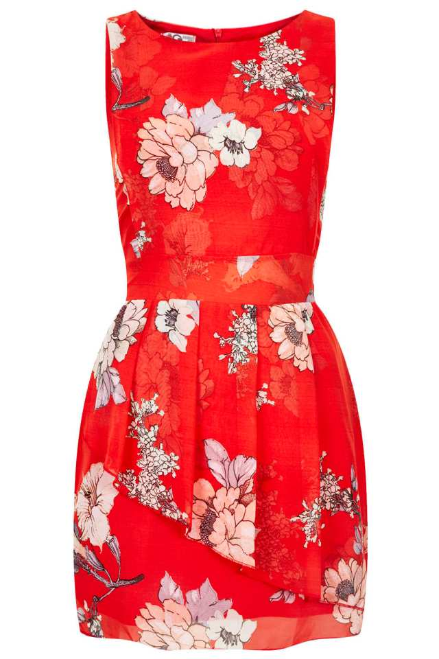 Floral Peplum Dress by Wal G TOPSHOP