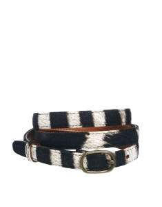 Denim And Supply Belt In Zebra Print