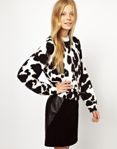 Monki Animal Print Jumper