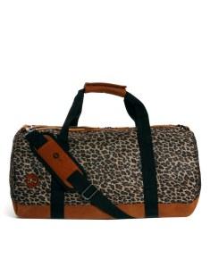 Mi-Pac Leopard Barrel Bag