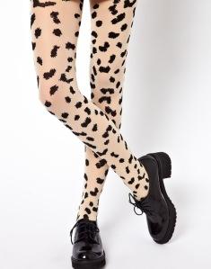 Monki Bibi Leopard Print Tights