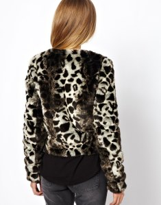 Noisy May Leopard Fur Bomber Jacket