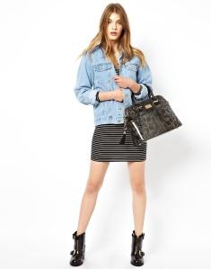 Paul's Boutique Maisy Patent Leopard Handbag